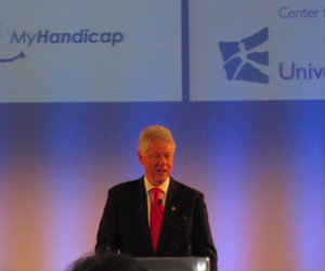 Bill Clinton gave a speech at the inauguration ceremony of the CDI (Picture: MyH)