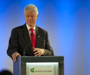 Bill Clinton at the inauguration of the CDI (©picture: Catharina Link)