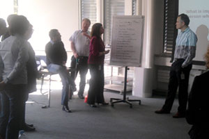 Participants discuss together