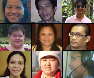 Portraits of nine of the disabled employees
